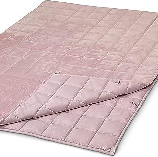 WAVEBEAD Rosa Gewichtsdecke 135x200 6kg, Schwere Kuscheldecke aus Oeko-TEX Standard 100 zertifiziertem Material, Therapiedecke Anti Stress, Schwere Decke Rosa gegen Schlafstörungen - Besser Schlafen
