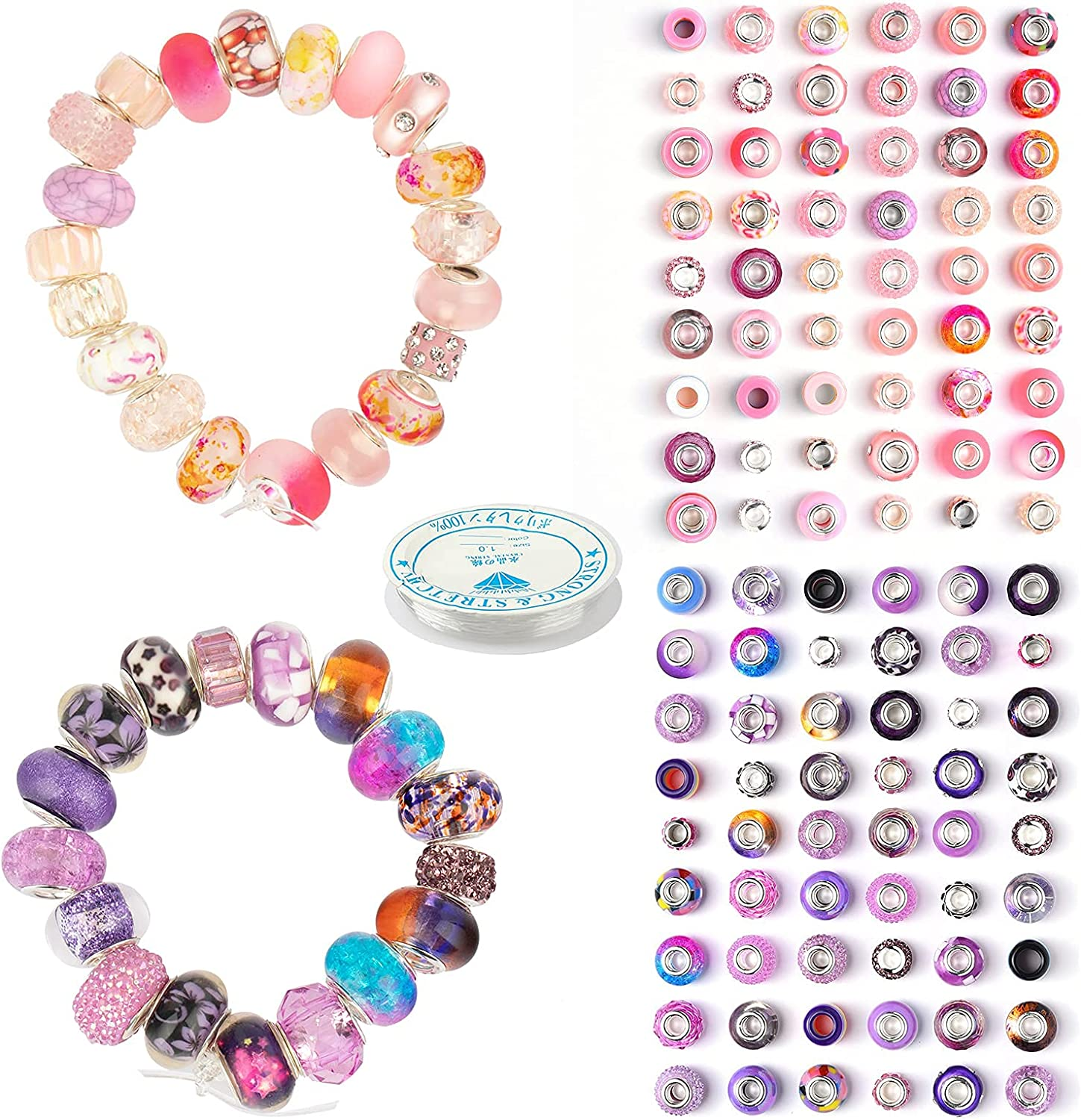 YAIKOAI European Beads Blue and Sales Kansas City Mall for sale Red
