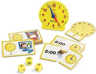 مجموعه فعالیت زمان منابع منابع ، ساعت آنالوگ ، یادگیری لمسی ، 41 قطعه ، سنین 5+