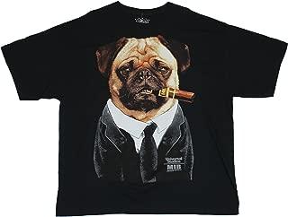 Men In Black III MIB Mens T-Shirt - Frank the Pug Giant Cigar Chomping Image (Medium) Black