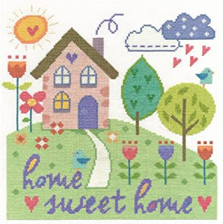 DMC Cross Stitch Kit - Modern - Home Sweet Home