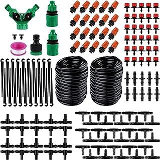 Innlife Irrigation Drip Kit, 100ft /30M Adjustable Automatic Micro Garden Irrigation System, Blank Distribution Tubing Hos...