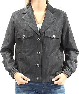 Anne Klein Women's Denim Snap Front Jacket