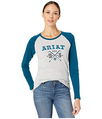 Ariat Whips Logo Tee (Heather Gray) Women