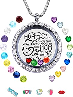 baby birthstone ring necklace charms