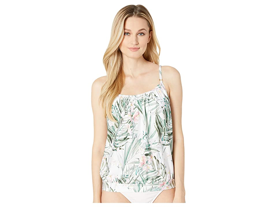 Athena - Athena Painted Nature Blouson Tankini with Removable Soft Cups