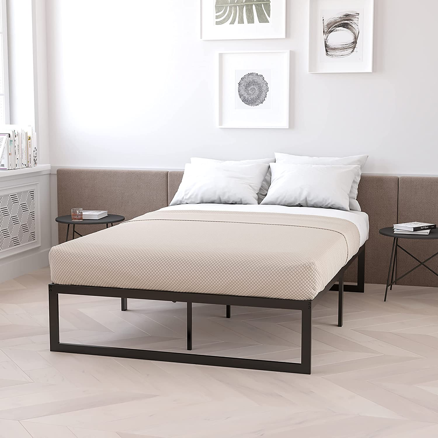 Flash Complete Free Shipping Furniture 14 Inch Metal Platform Bed Me Frame with 12 Max 71% OFF