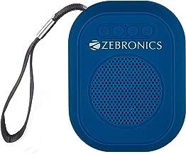 Zebronics Zeb-SAGA Ultra Portable BT Speaker with mSD, USB, AUX, FM & Mic (Blue)