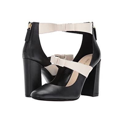 Nine West Dannell (Black/Off-White Leather) Women