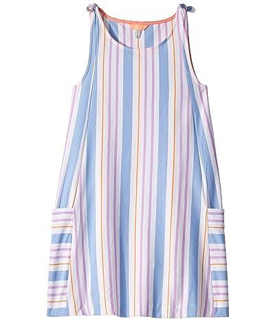 Joules Kids Madeline Dress (Toddler/Little Kids/Big Kids) (White Mauve Stripe) Girl