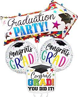 Congrats Grad Mylar Graduation Balloons - Large, 32 Inch Arrow Congrats Grad Balloons | Congrats Grad Foil Graduation Ball...
