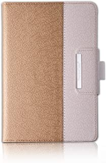 Thankscase Samsung Galaxy Tab S3 9.7 Case, Rotating Case Smart Cover with S Pen Holder with Wallet Pocket with Hand Strap for Samsung Galaxy Tab S3 9.7 (Gold)