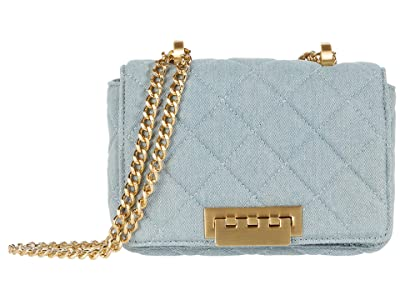 ZAC Zac Posen Soft Earthette Mini Chain Shoulder (Denim) Handbags