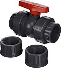 Hayward QTA1020CSEG 2-Inch Gray QTA Series True Union PVC Compact Ball Valve with EPDM O-Rings