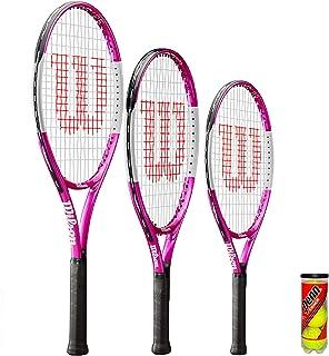 """Wilson Ultra Pink Junior Tennis Racket + 3 Tennis Balls (21"""", 23"""" & 25"""")"""