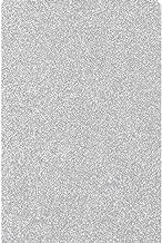 perfekt zum Plottern geeignet Glitter 2:Silver Black einzelne Folien Glitter//Glitzer A4 Transferfolie//Textilfolie zum Aufb/ügeln auf Textilien