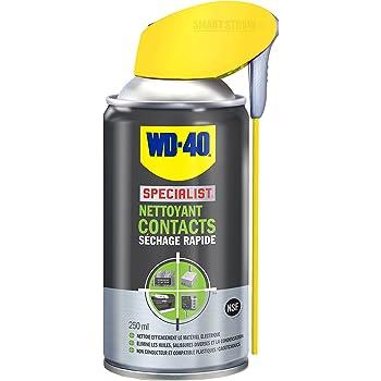 WD-40 Specialist • Nettoyant Contact • Spray Double Position • Elimine huile, dépôts gras, poussière, saleté, résidus de flux et condensation  • Séchage Rapide • Non conducteur • 250 ML