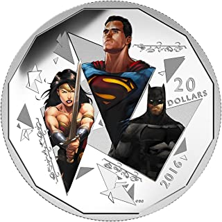 2016 CA Batman vs Superman 1 Oz Fine Silver Coin Dawn of JusticeTM - The Trinity $20 Mint State