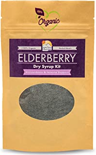 100% Organic Elderberry Syrup Kit - Natural Immune Support for Kids and Adults - DIY - Just Add Water and Honey - Makes ~16oz