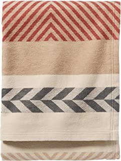 Pendleton Mojave Cotton Jacquard Blanket. Beige, Queen Size