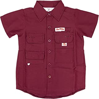Bull Red Toddlers PFG Vented Fishing Shirt Button Up