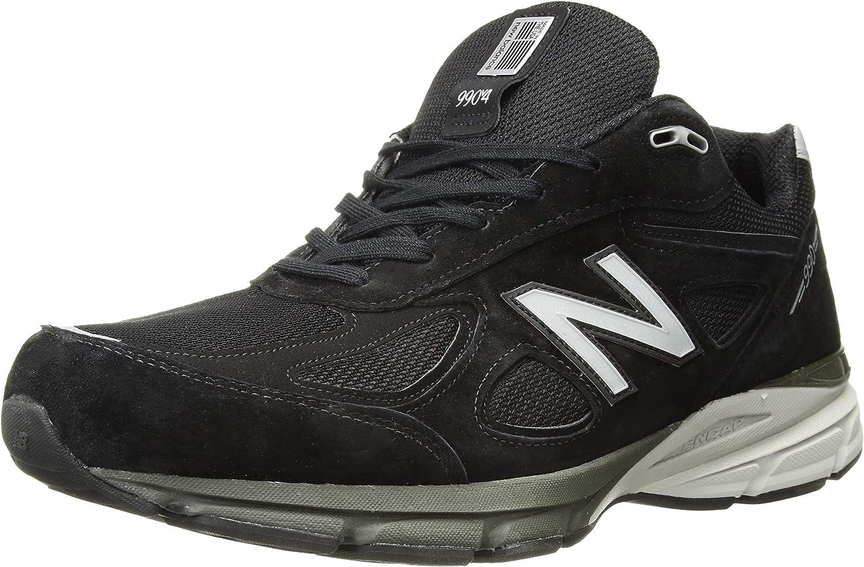 New Balance Men's M990BK4 Running schuhe schwarz Silber Leather Mesh 7.5 B