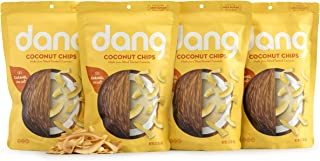 Dang Toasted Coconut Chips, Gluten-Free, Paleo, Vegan, Non-GMO, Caramel Sea Salt, 3.17 Ounce (4 Count)