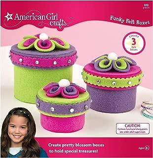 American Girl Crafts Felt Jewelry Box Girls Activity Kit, 103pc