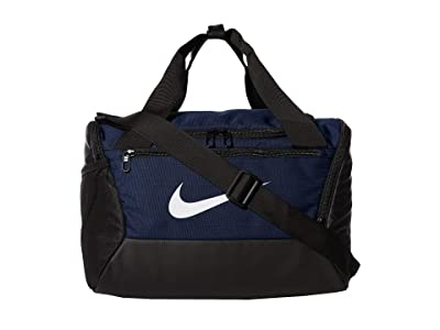 Nike Brasilia Extra Small Duffel 9.0 (Midnight Navy/Black/White) Bags
