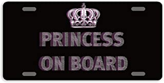 princess front license plate