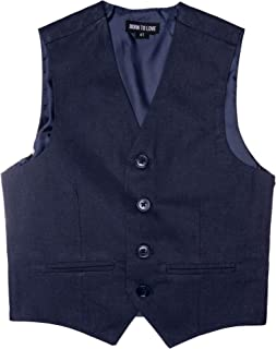 Vest for Baby Toddler Kids Ring Bearer Pageboy Wedding Formal Herringbone Outfit