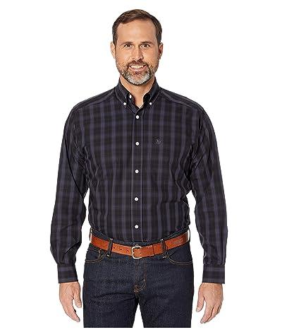 Ariat Wrinkle Free Claybourne Long Sleeve Shirt (Black) Men