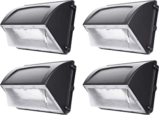 Hyperikon LED Wall Pack, 80W (HPS HID Replacement), Commercial and Industrial Outdoor Lighting, 5000K, IP65 Waterproof, 4 Pack