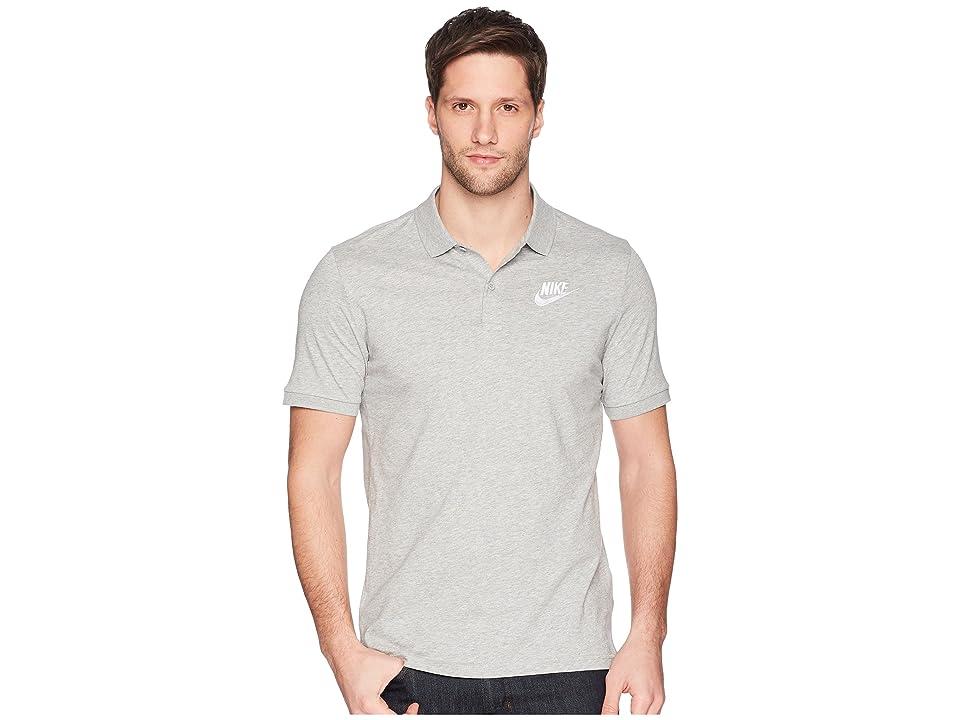 Nike NSW Polo Jersey Matchup (Dark Grey Heather/White) Men