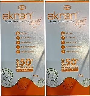 Ekran Soft Spf 50+ Silicone Sunscreen Gel ( pack of 2*50gm )