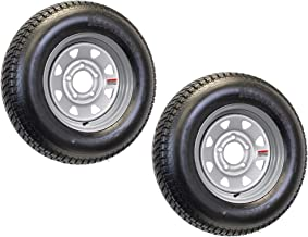 2-Pack Mounted Trailer Tire and Rim ST175/80R13 175/80 R 13D 5-4.5 Silver Spoke