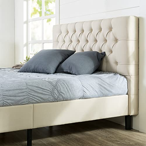 d2e41324ebf2d Zinus Misty Upholstered Modern Classic Tufted Platform Bed   Mattress  Foundation   No Box Spring Needed