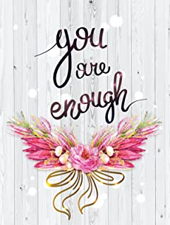 iCandy Products Inc You are Enough Motivational Inspirational Wall Decor Home Art Print, Small Signs - Metal - 18x24