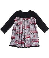 Print Classic Long Sleeve Swing Dress (Toddler)