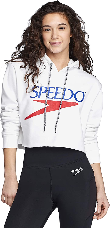 Speedo Women's Sweatshirt Vintage Cropped Hoodie
