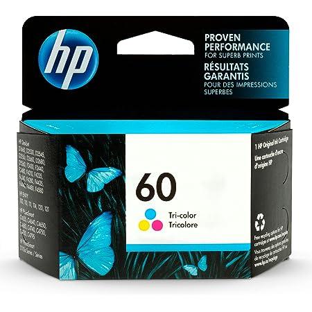 HP 60 | Ink Cartridge | Tri-color | Works with HP DeskJet D2500 Series, F2430, F4200 Series, F4400 Series, HP ENVY 100, 110, 111, 114, 120, HP Photosmart C4600 Series, C4700 Series, D110a | CC643WN