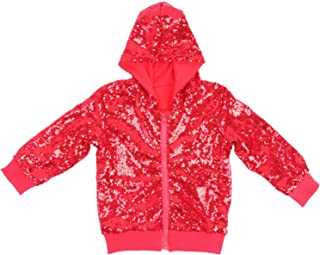 Kids Jackets Girls Boys Sequin Zipper Coat Jacket for Toddler Birthday Christmas Clothes