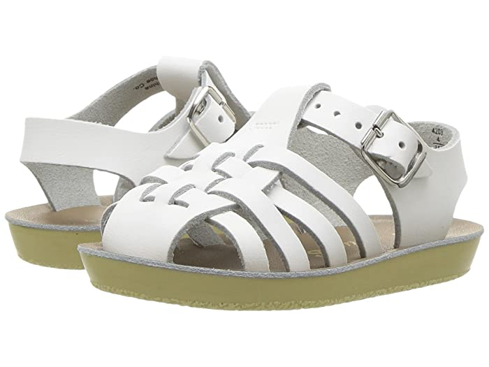 Salt Water Sandal by Hoy Shoes  Sun-San - Sailors (Infant/Toddler) (White) Kids Shoes