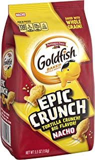 Pepperidge Farm Goldfish Epic Crunch Nacho Crackers, 5.5 oz. Bag, 5.5 Ounce