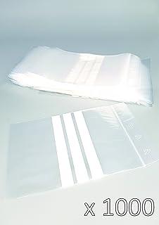 Bolsas de plástico con cierre zip con bandas blancas - 80mm x 120mm - paquete de 1000 piezas (10x100) - Apta para el contacto alimentario