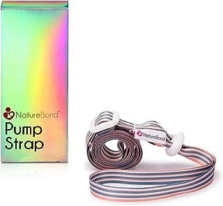 NatureBond Pump Strap for Manual Silicone Breast Pump/Breastfeeding/Breastmilk Saver in Hologram Gift Box - Sky Grey Color