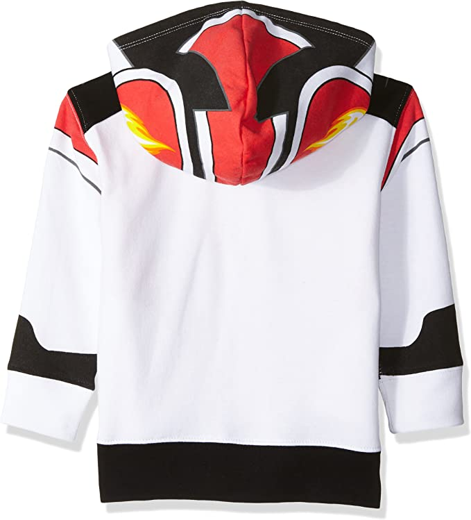 NWT Nickelodeon Blaze AJ Boys White Hooded Sweater Hoodie Jacket 2T 3T 4T 5T