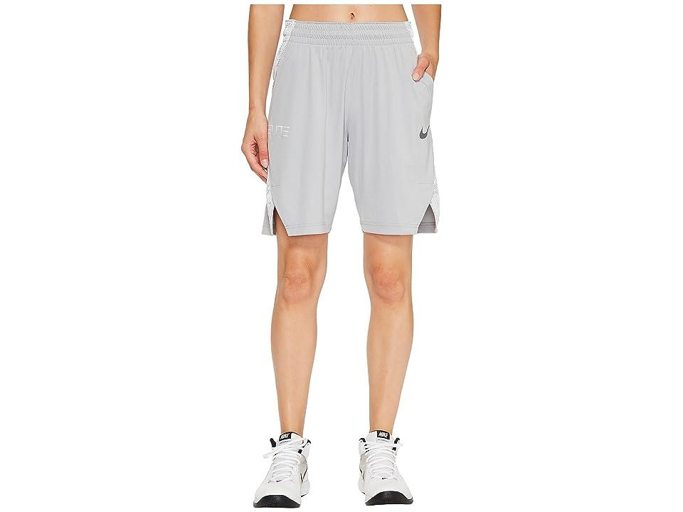 Nike Dry Elite 9 Basketball Short (Wolf Grey/White/Cool Grey/Cool Grey) Women