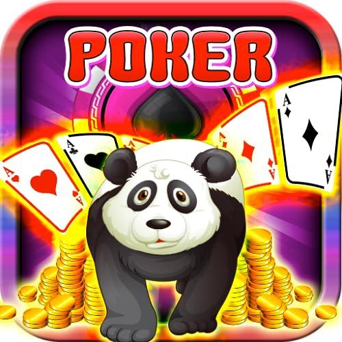 Mega Panda Poker Free Classic Casino Jackpot Stars Coins Riches Mount Bullseye...