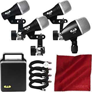 CAD Audio Stage 4 4-Piece Drum Pack Bundled with XLR Cable and Microfiber Cloth